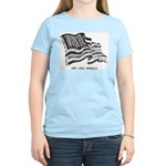 Barcode Flag - God Less Ameri Women's Light T-Shir