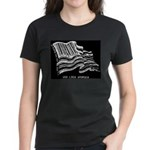 Barcode Flag - God Less Ameri Women's Dark T-Shirt