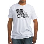 Barcode Flag - God Less Ameri Fitted T-Shirt
