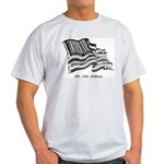 Barcode Flag - God Less Ameri Light T-Shirt