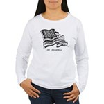 Barcode Flag - God Less Ameri Women's Long Sleeve