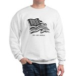 Barcode Flag - God Less Ameri Sweatshirt