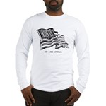 Barcode Flag - God Less Ameri Long Sleeve T-Shirt