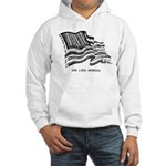 Barcode Flag - God Less Ameri Hooded Sweatshirt