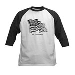 Barcode Flag - God Less Ameri Kids Baseball Jersey