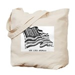 Barcode Flag - God Less Ameri Tote Bag