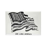 Barcode Flag - God Less Ameri Rectangle Magnet (10
