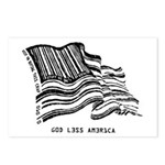 Barcode Flag - God Less Ameri Postcards (Package o
