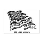 Barcode Flag - God Less Ameri Mini Poster Print
