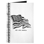 Barcode Flag - God Less Ameri Journal