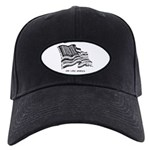 Barcode Flag - God Less Ameri Black Cap