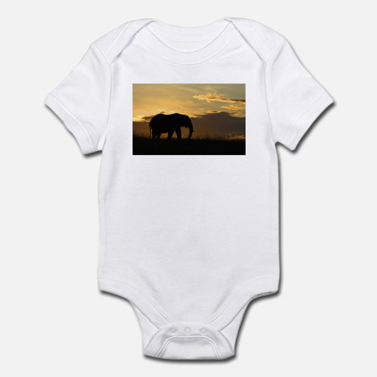 Elephant Sunset Infant Bodysuit