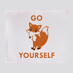 Go Fox Yourself Stadium Blanket
