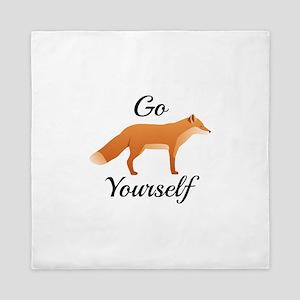 Go Fox Yourself Queen Duvet