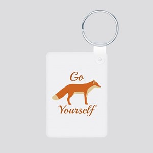 Go Fox Yourself Aluminum Photo Keychain