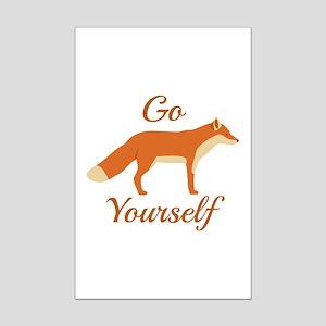 Go Fox Yourself Mini Poster Print