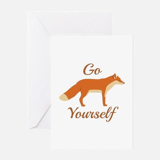 Go Fox Yourself Greeting Card