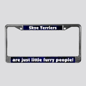 Furry People Skye Terrier License Plate Frame