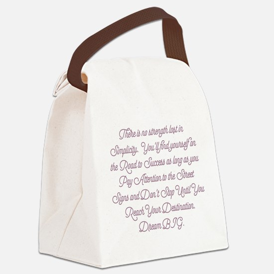Simplify Your Journey Canvas Lunch Bag