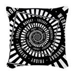 Days of The Week Woven Throw Pillow