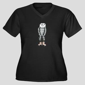 Sloth on Roller Skates Plus Size T-Shirt