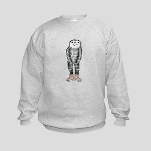 Sloth on Roller Skates Kids Sweatshirt