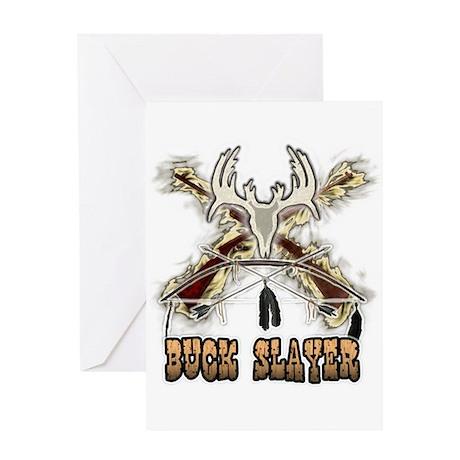 Buck slayer T-shirts gifts Greeting Card