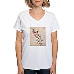 Ron Paul Constitution Women's V-Neck T-Shirt