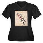 Ron Paul Constitution Women's Plus Size V-Neck Dar