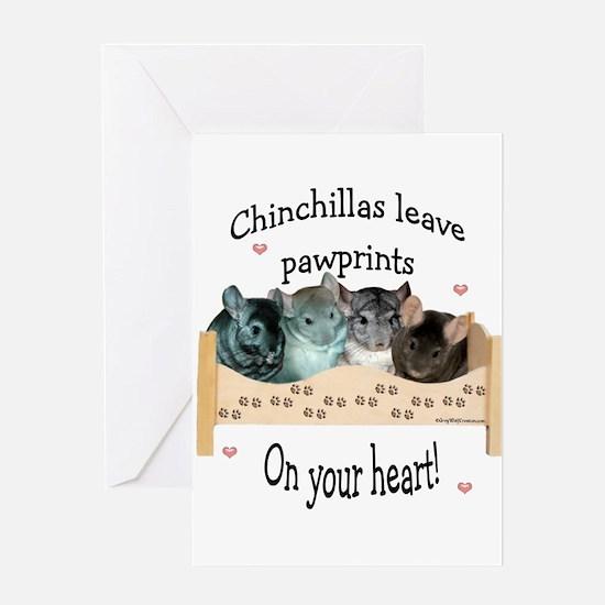 Chin Pawprints Greeting Cards