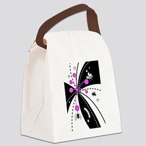 Bugs On A Flower Canvas Lunch Bag