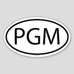 PGM Oval Sticker