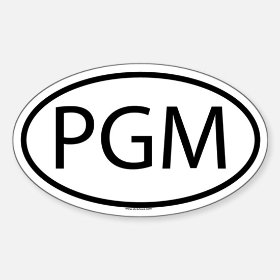 PGM Oval Decal