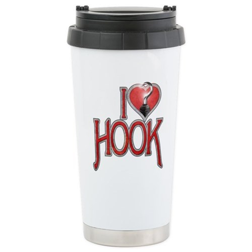 I Heart Hook Stainless Steel Travel Mug