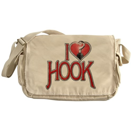 I Heart Hook Messenger Bag