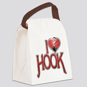 I Heart Hook Canvas Lunch Bag