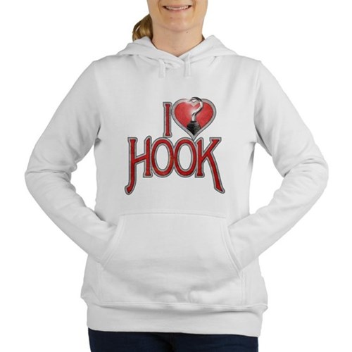 I Heart Hook Women's Hooded Sweatshirt