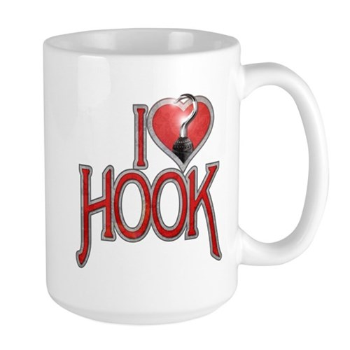 I Heart Hook Large Mug