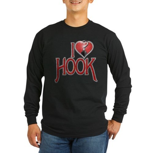 I Heart Hook Long Sleeve Dark T-Shirt