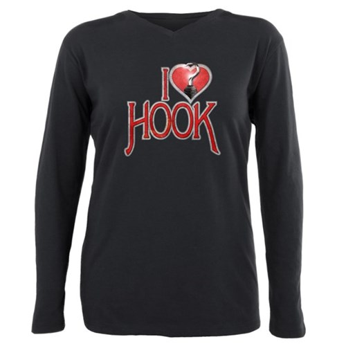 I Heart Hook Plus Size Long Sleeve Tee