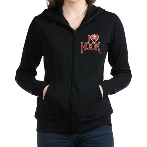 I Heart Hook Women's Zip Hoodie