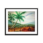 Cuban Landscape Framed Panel Print