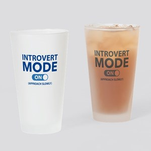 Introvert Mode On Drinking Glass