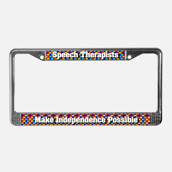Speech Therapists License Plate Frame