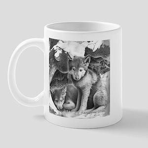 Young Gray Wolves Mug