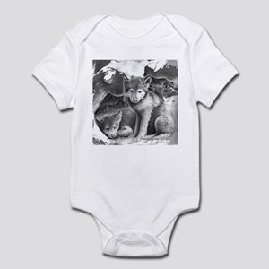 Young Gray Wolves Infant Bodysuit
