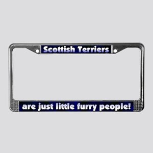 Furry People Scottish Terrier License Plate Frame