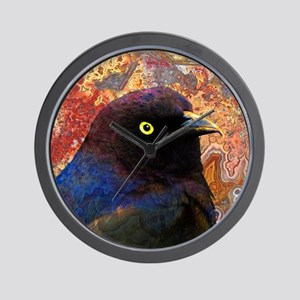 Black Bird texture Wall Clock
