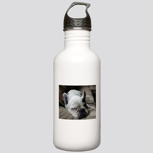 Pied French Bulldog Water Bottle