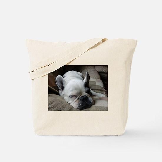 Pied French Bulldog Tote Bag